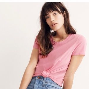 madewell knot front tee
